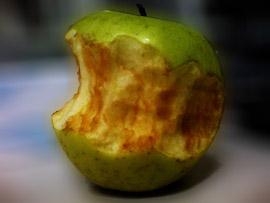 Manzana oxidada