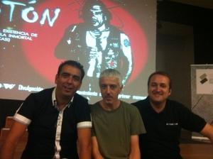 """Con @Xurxomar y @DaniEPAP minutos antes del estreno de """"Protón"""""""