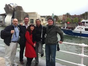 Con Javier Peláez, César Tomé, Natalia Zelmanovitch y Julian Estévez