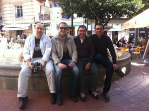 De izquierda a derecha: Javier Peláez, Dani Torregrosa, Sergio Palacios y un servidor.
