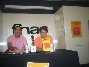 Junto a J.M. Mulet en la presentación de su libro.