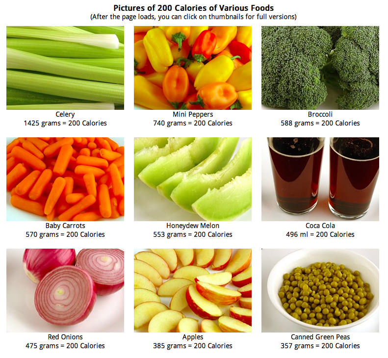 Que es calorias en los alimentos
