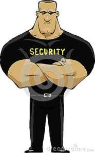 guardia-de-seguridad-en-un-fondo-blanco-29865763