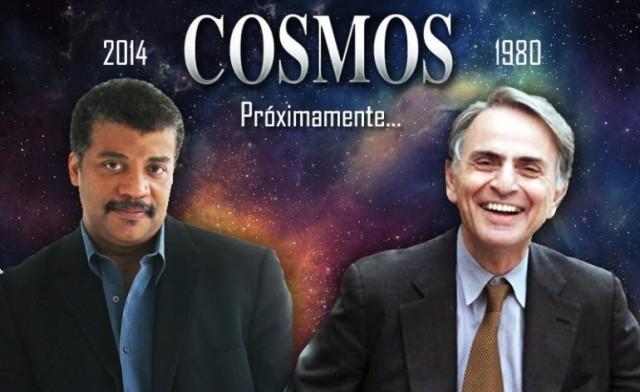 Neil deGrasse Tyson (izq.) y Carl Sagan (der.)