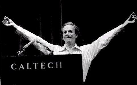 Richard Feynman en el Caltech de California