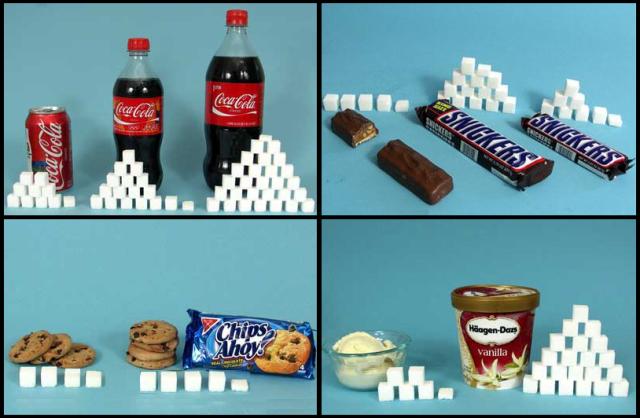 Alimentos con azúcares añadidos