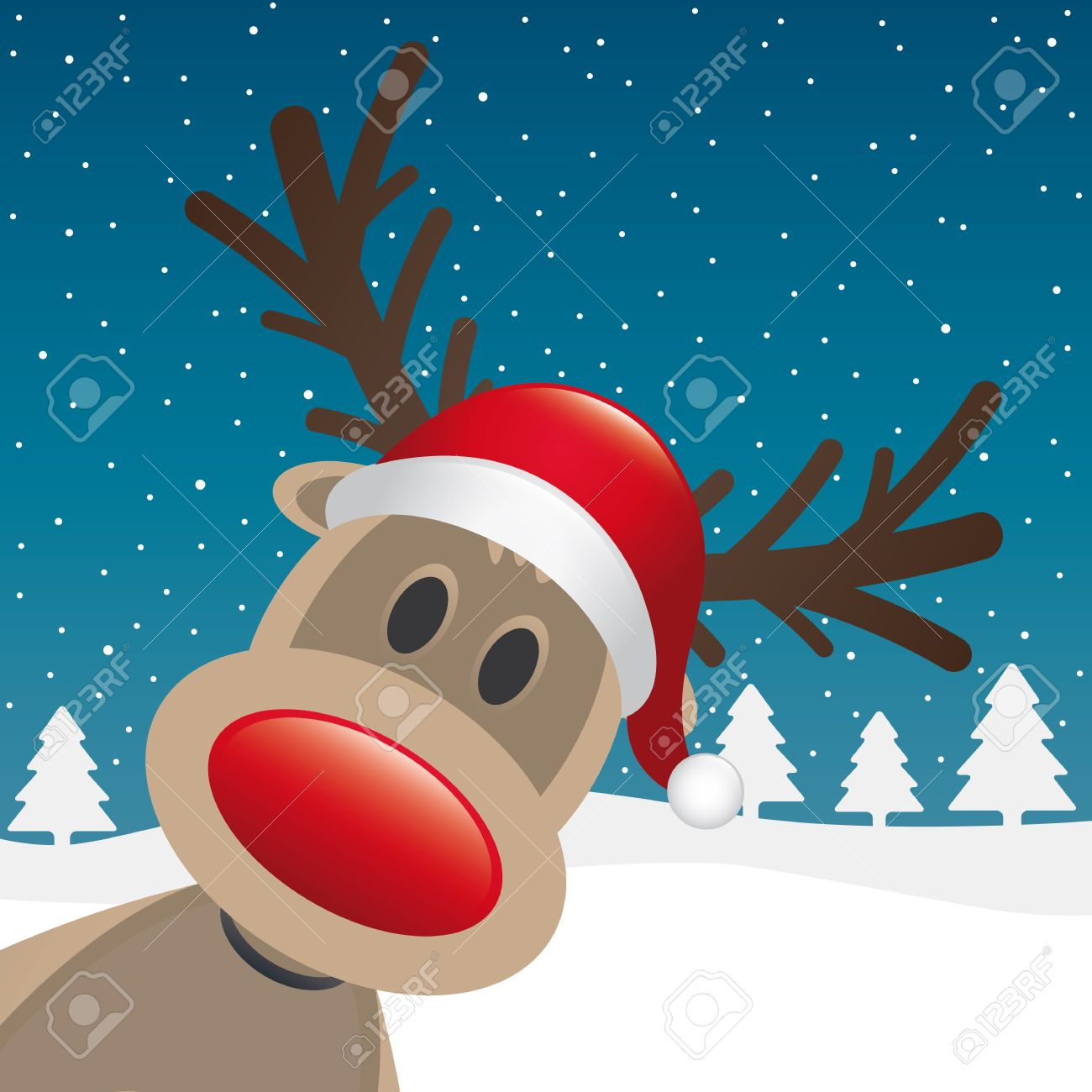 Image Result For Free Santa Reindeer
