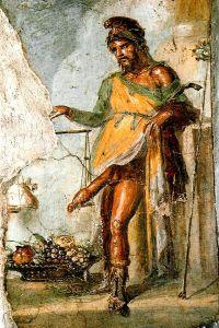 Fresco de Príapo (casa de Vettii)