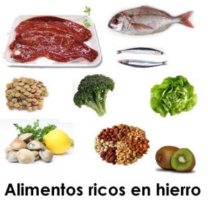 anemias alimentos