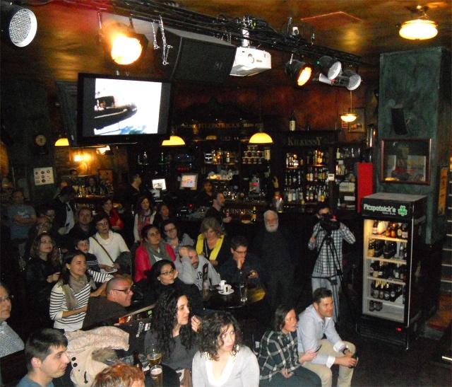 Aspecto del Bar FitzPatrick en la charla de Eugenio