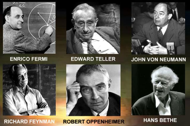 Algunos científicos participantes en el Proyecto Manhattan