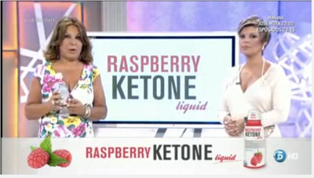 Melli Camacho publicitando Raspberry Ketone