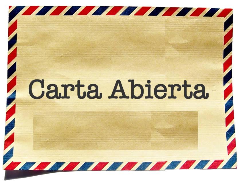 Resultado de imagen para CARTA ABIERTA