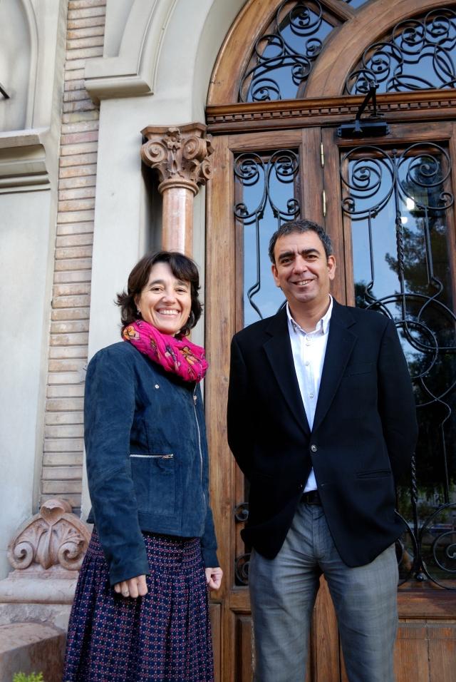 Los dos coordinadores del Centenario de la UM (Eva Santos y un servidor)