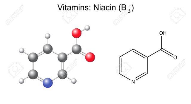 30028560-F-rmula-qu-mica-estructural-y-el-modelo-de-cido-nicot-nico-niacina-vitamina-b3-ilustraci-n-2d-y-3d-a-Foto-de-archivo.jpg