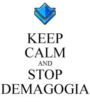 Resultado de imagen de stop demagogia